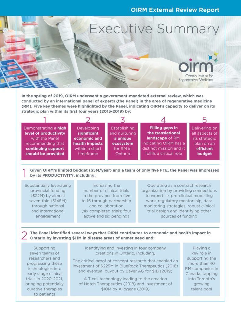 OIRM's External Review Findings Page 1
